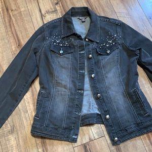 Grey distressed Jean jacket